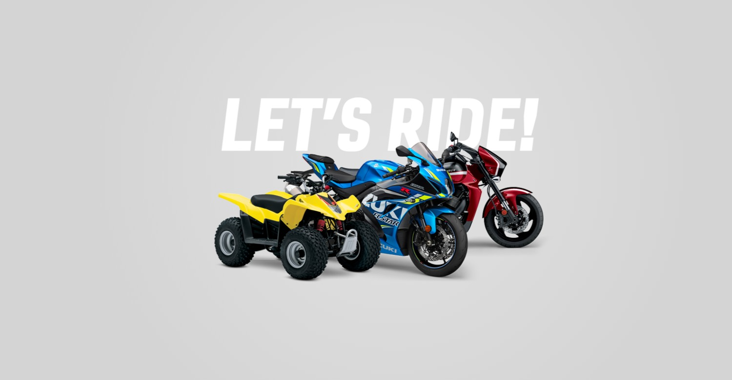 Suzuki Motorcycles Yellow Blue and Red