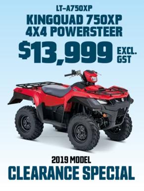 LT-A750XP Red Quad Motorbike