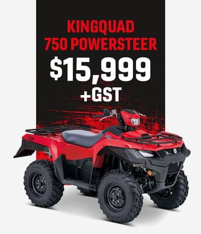 kingquad 750 powersteer motorcycle