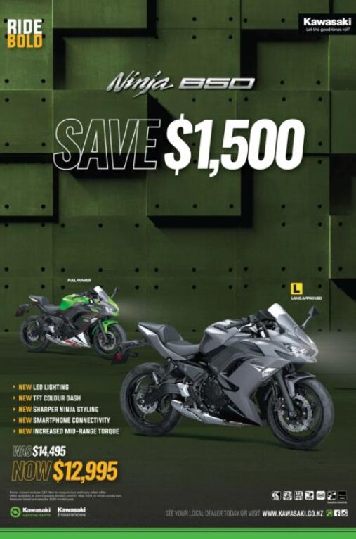 Kawasaki Ninja 650 Motorcycle