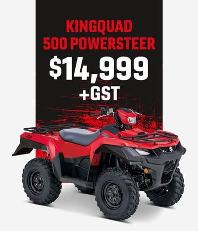 kingquad 500 powersteer motorcycle
