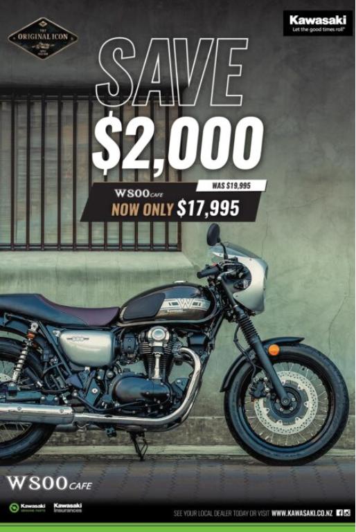 Kawasaki W800 cafe Motorcycle